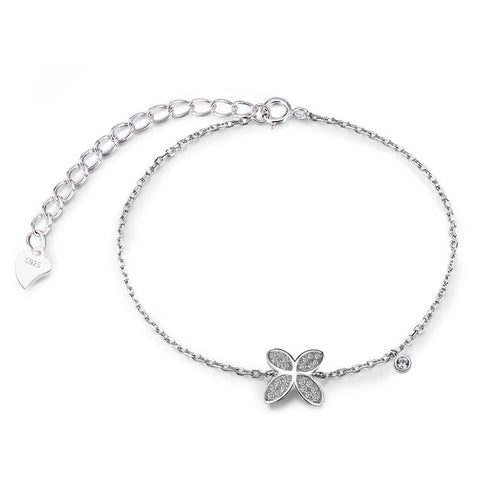 S925 Sterling Silver Clover Bracelet Jewelry Wholesale