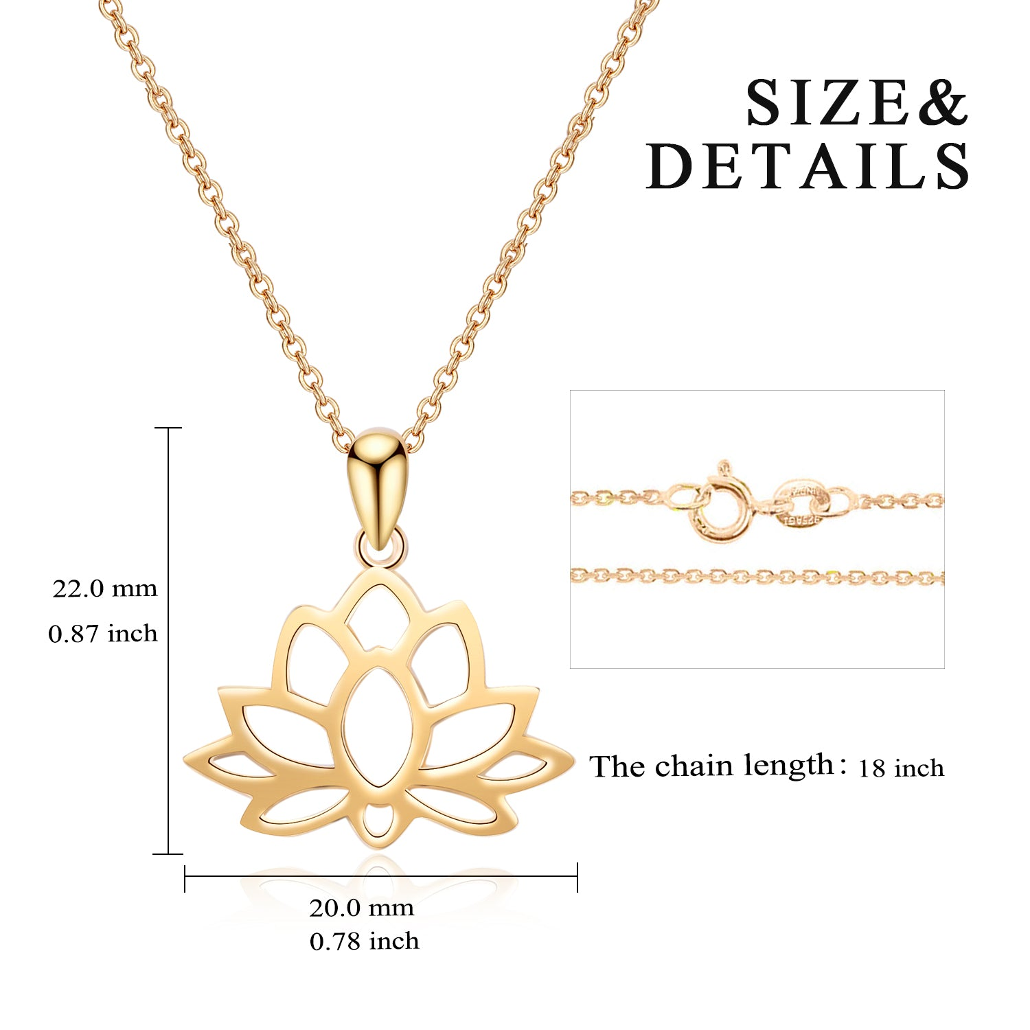 Water Lily Plant Engraved Hollow Lotus Favorite Necklace