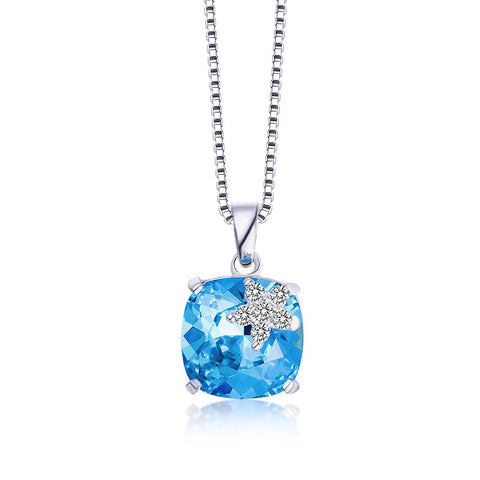 S925 Sterling Silver Austrian Crystal Necklace Pendant Wholesale