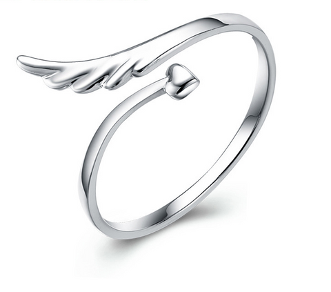 romantic angel's guard open ring