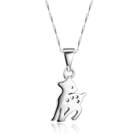 S925 Sterling Silver Fawn Pendant Necklace Wholesale