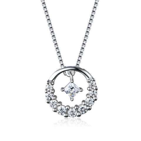 S925 sterling silver star observation pendant Necklace Korean  jewelry