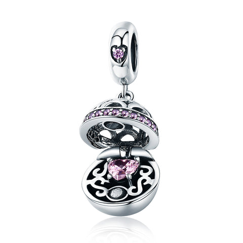Silver Zirconia Love Surprise Charms