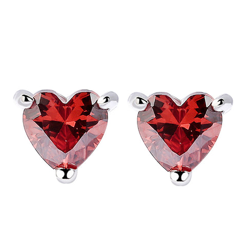 claw heart shaped garnet Earring