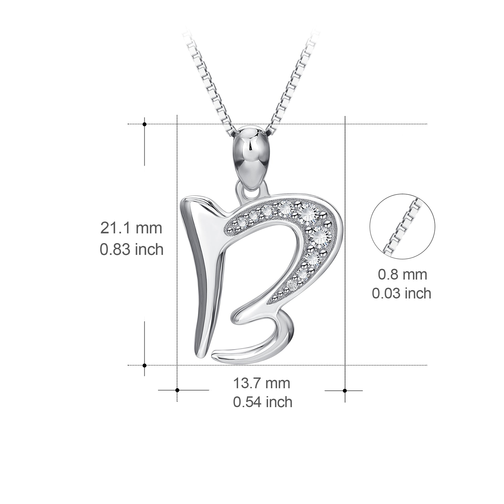 Custom Letter Jewelry 26 White Gold Color Letter Alphabet Necklace