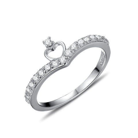 S925 sterling silver crown cubic zircon Engagement ring wholesale jewelry