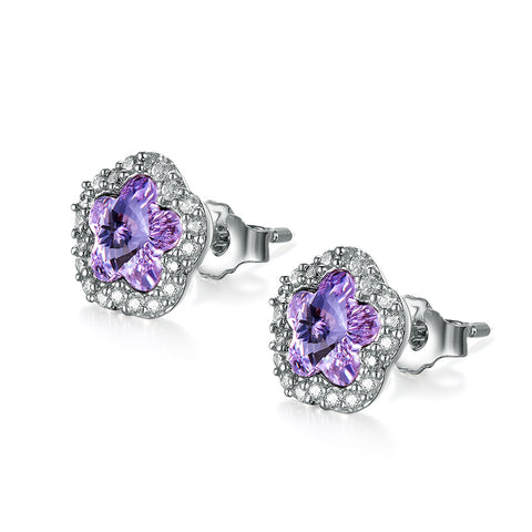 S925 Sterling Silver Crystal Stud Earrings Wholesale