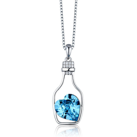 S925 Sterling Silver Austrian Crystal Pendant Necklace Wholesale Jewellery