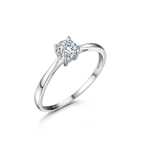 S925 sterling silver Cubic Zircon Engagement Promise Ring jewelry wholesale