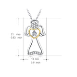 Top Zircon Angel Necklace Jewelry Kindly Mother Grandma Necklace