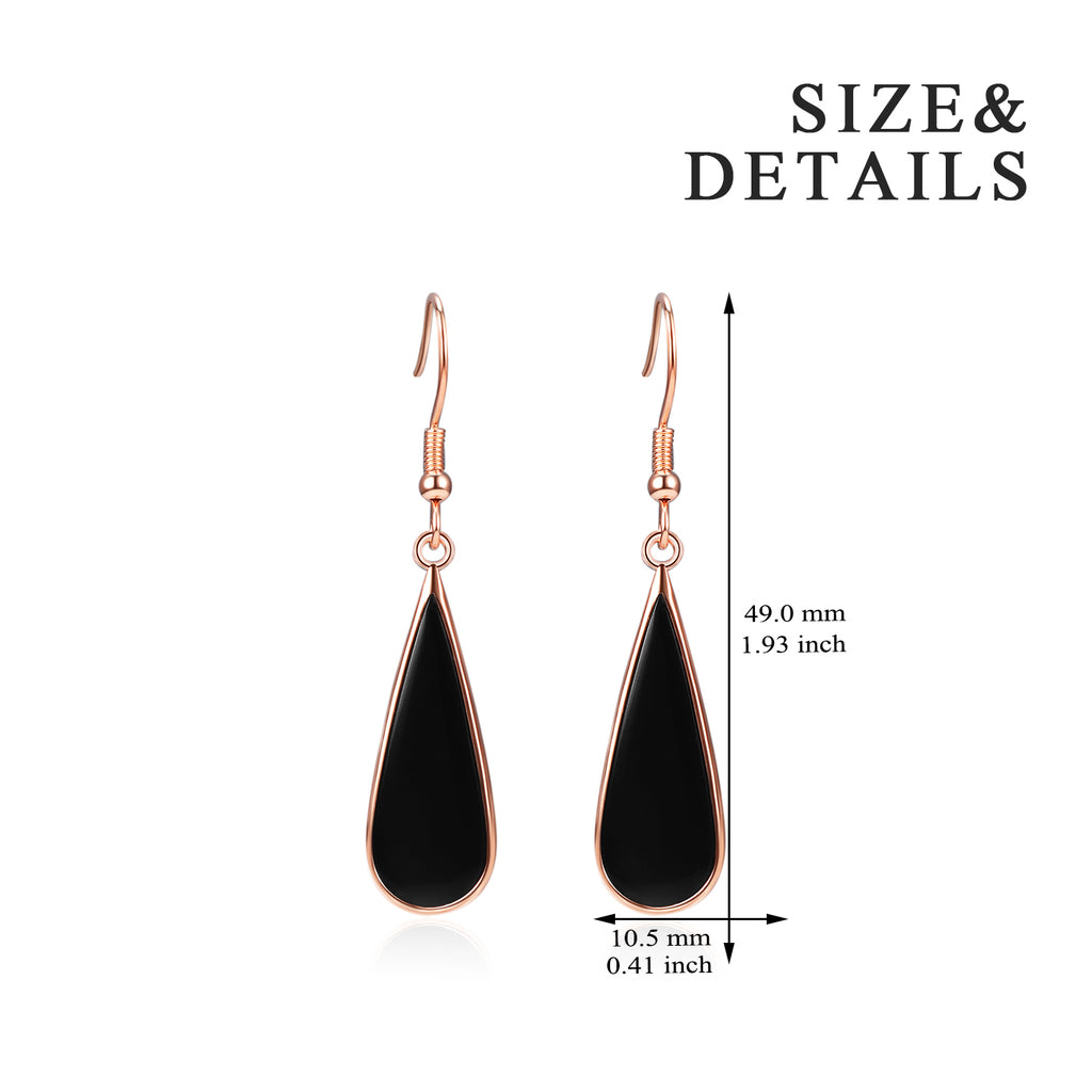 Black Agate Earrings Handmade Fashion  Luxury Jewelry  Earrings