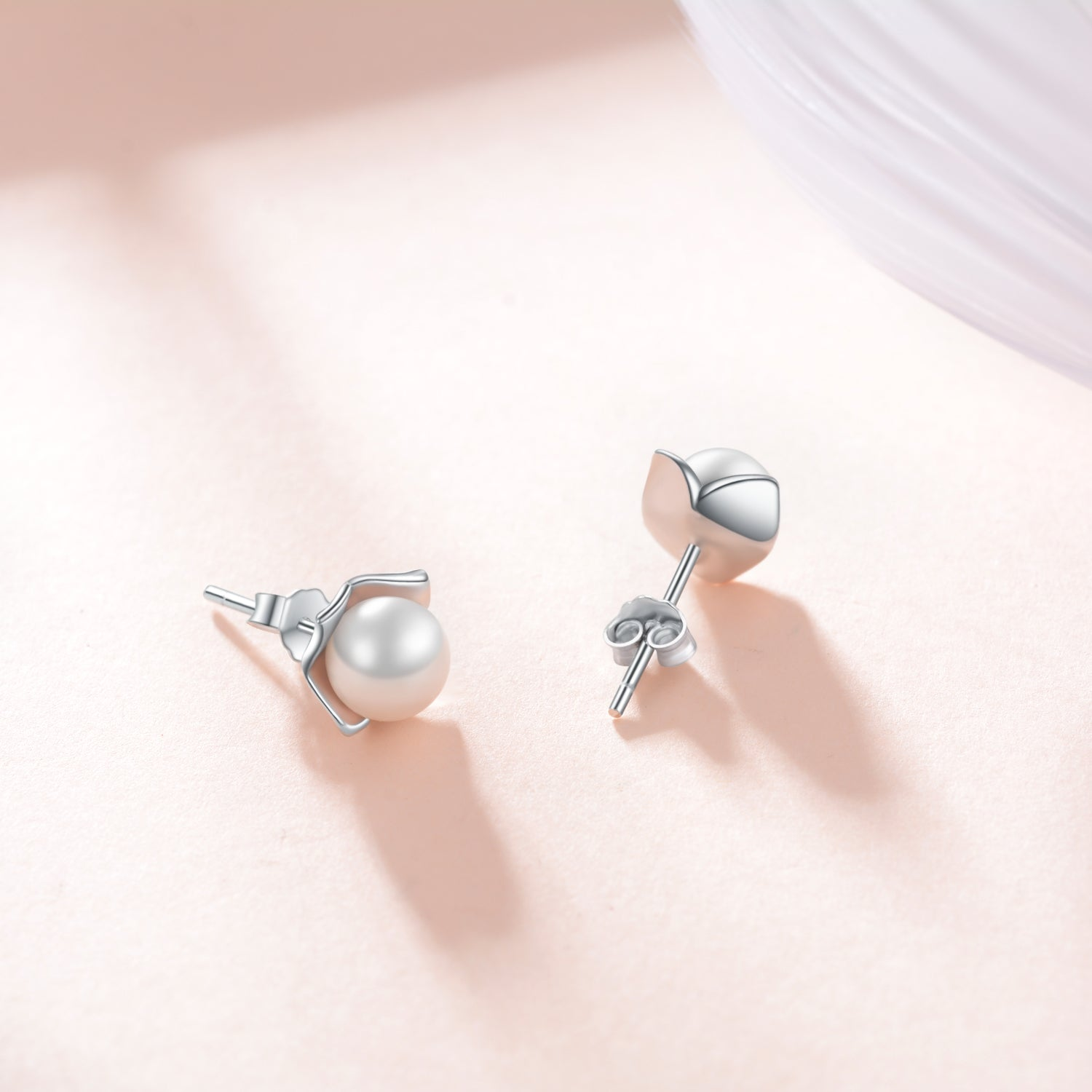 Square Pearl Earrings Engaged Married Bride Bridesmaid Jewelry