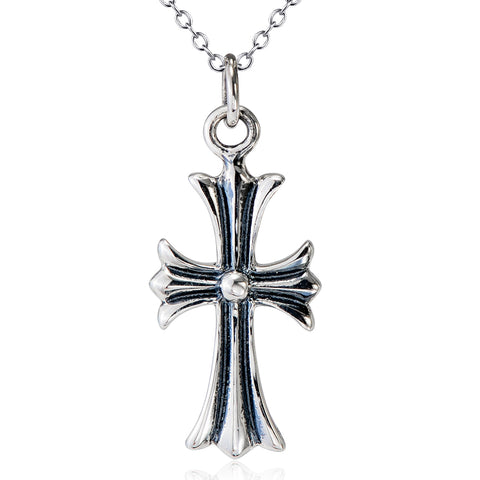 Classic Cross Necklace Factory 925 Sterling Silver Necklace For Woman