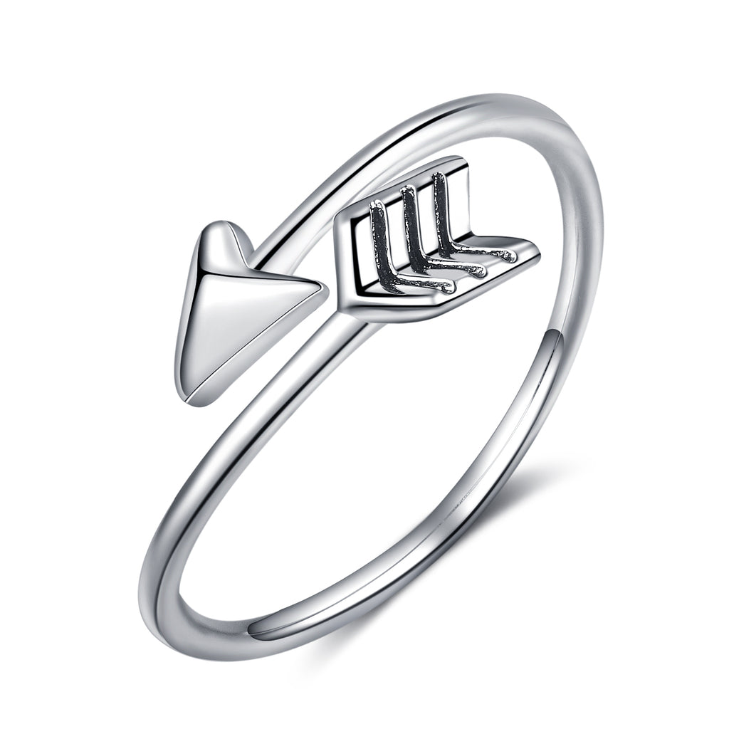 Arrow Ring Oxidized Adjustable Women and Men Rings Design