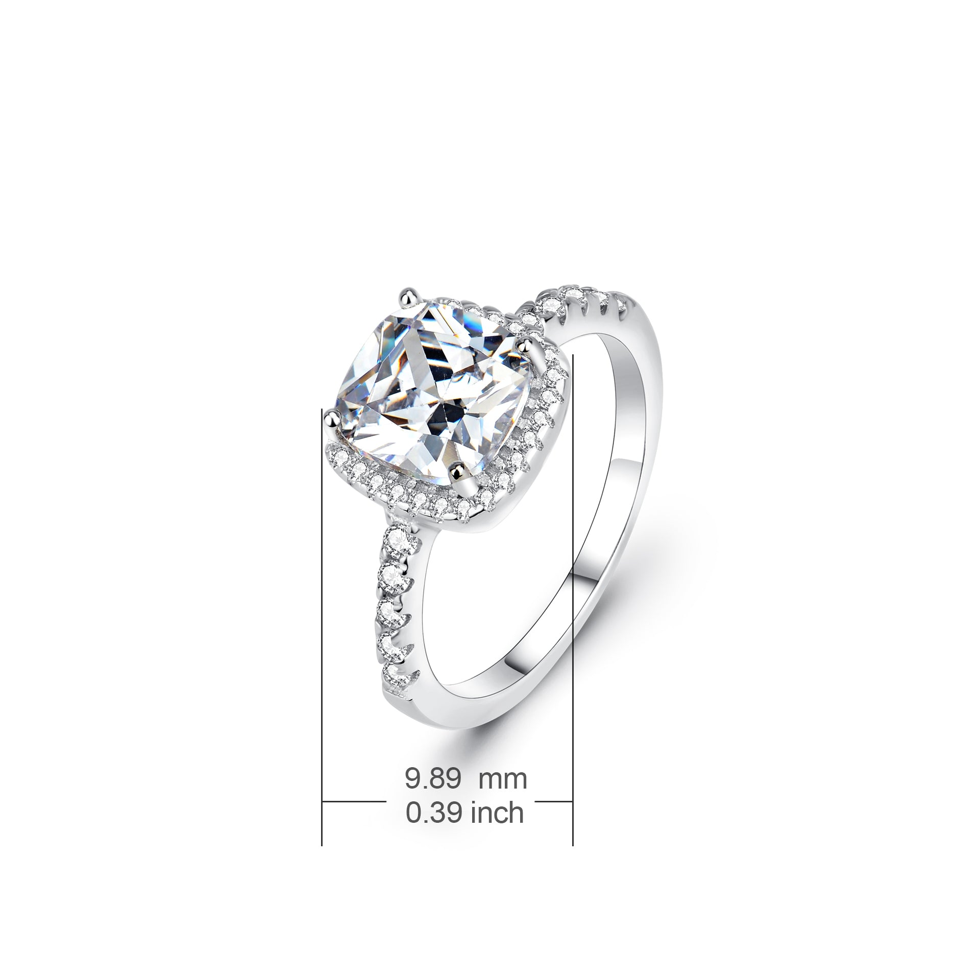 Fine Jewelry Ring Genuine 925 Sterling Silver Engagement Rings for Women