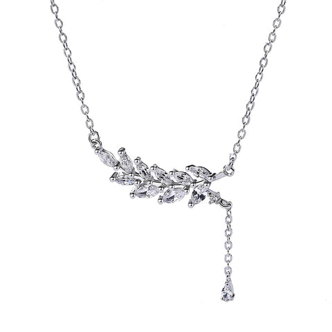 Tassel Leaf Diamond Necklace