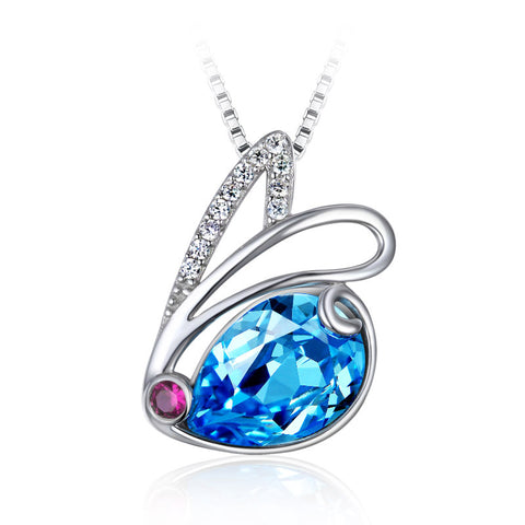 S925 Silver Austrian Crystal Pendant Wholesale Luxury Roshki Crystal Rabbit Jewellery