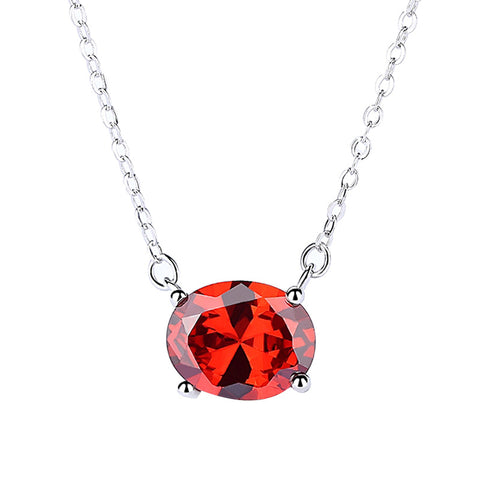 red zircon sleeve chain clavicle chain