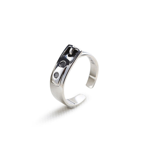 925 Sterling Silver Ring Fashion Pop Ring Trend Polished Open Silver