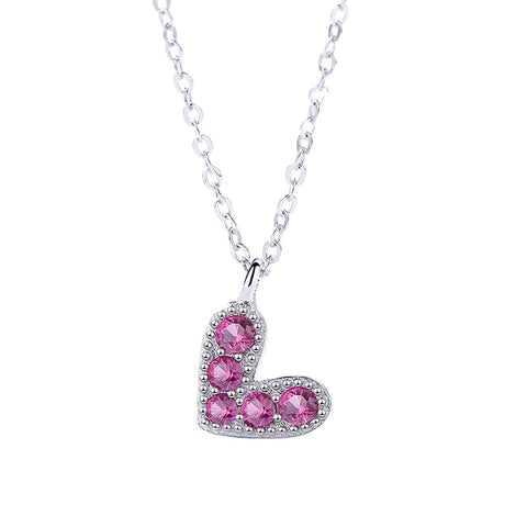 heart-shaped zircon necklace