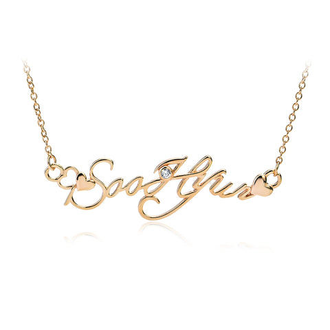 925 Sterling Silver Letters Pendant Necklace Elegant Jewelry