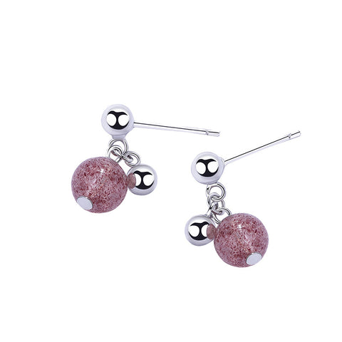 sweet strawberry crystal earrings