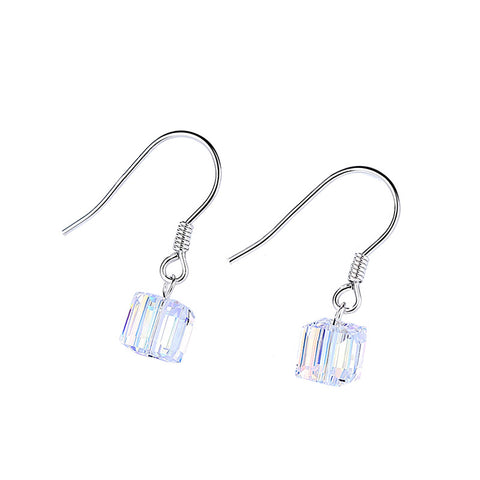 cube crystal ear hook