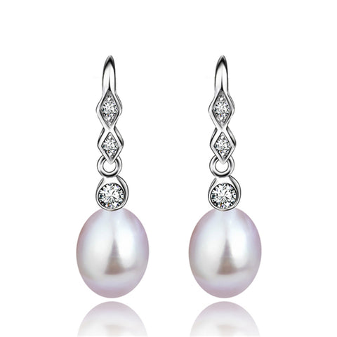 Freshwater Cultured Pearl Mount Earrings for Women Birthday