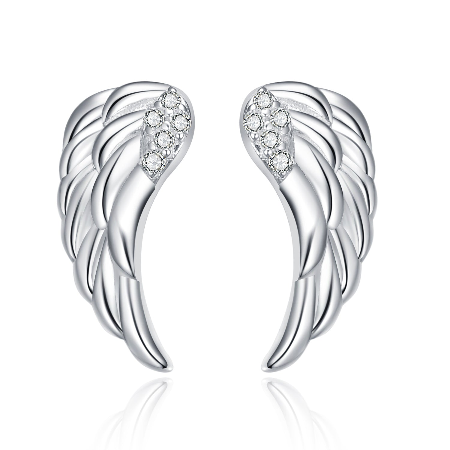 Wing Earrings 925 Silver Sterling Good Quality Polished Earrings Design