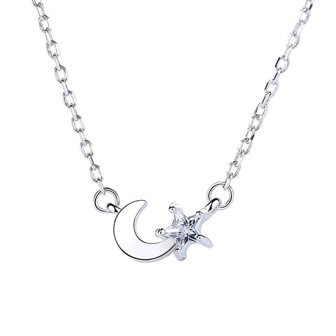 star and moon All-in-one pendant necklace