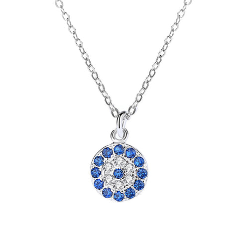 micro diamond cross chain round necklace