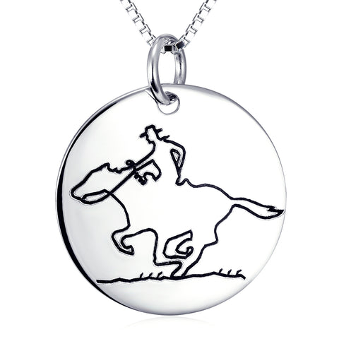 People On The Horse Necklace Factory 925 Sterling Silver Fashion Wedding Jewelry For Woman