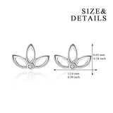 Three Petals, Lotus, Cute Little Earrings, Design Factory, Delivery Earrings