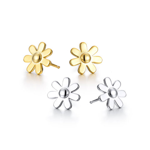 S925 sterling silver flower Stud earrings  wholesale fashion jewelry