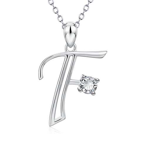 Fashion F Dainty Necklace Initial Shape Alphabet Necklace