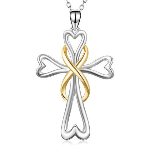 infinity heart religious cross necklace new arrival design necklace