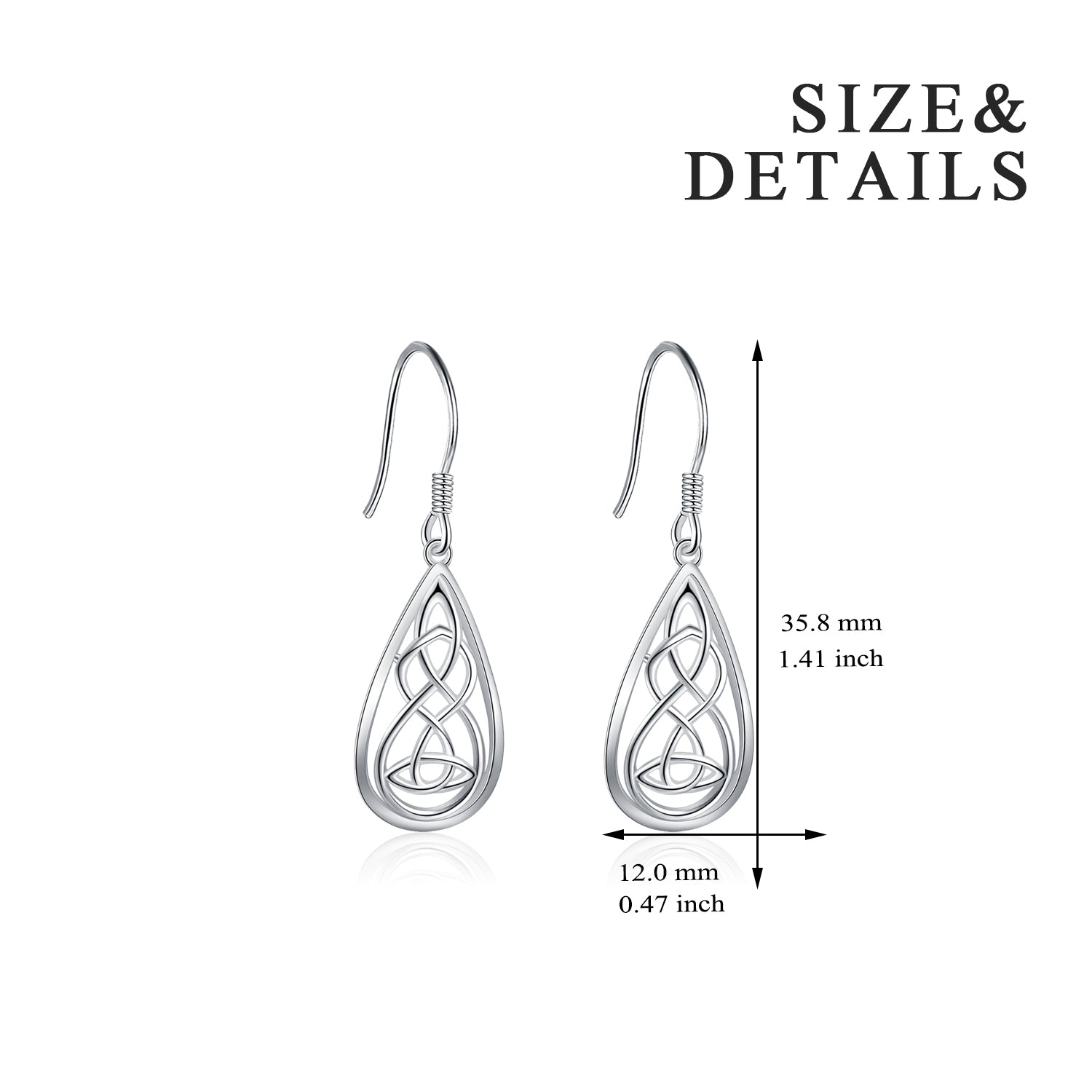 Celtic Knot Dangle Drop Earrings Good Quality Jewelry Design Women