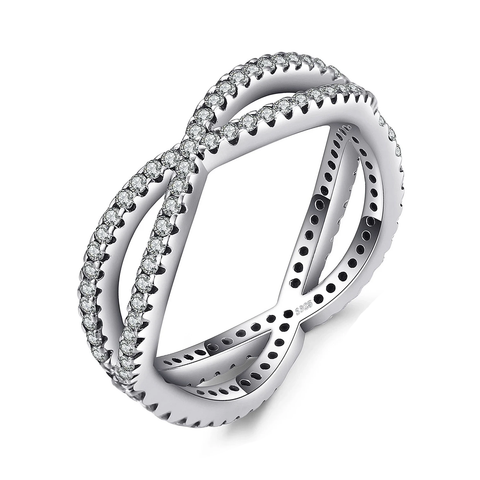 Silver Cosmic Lines Statement Ring