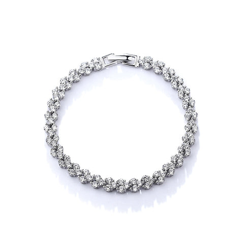 micro inlaid diamond bracelet