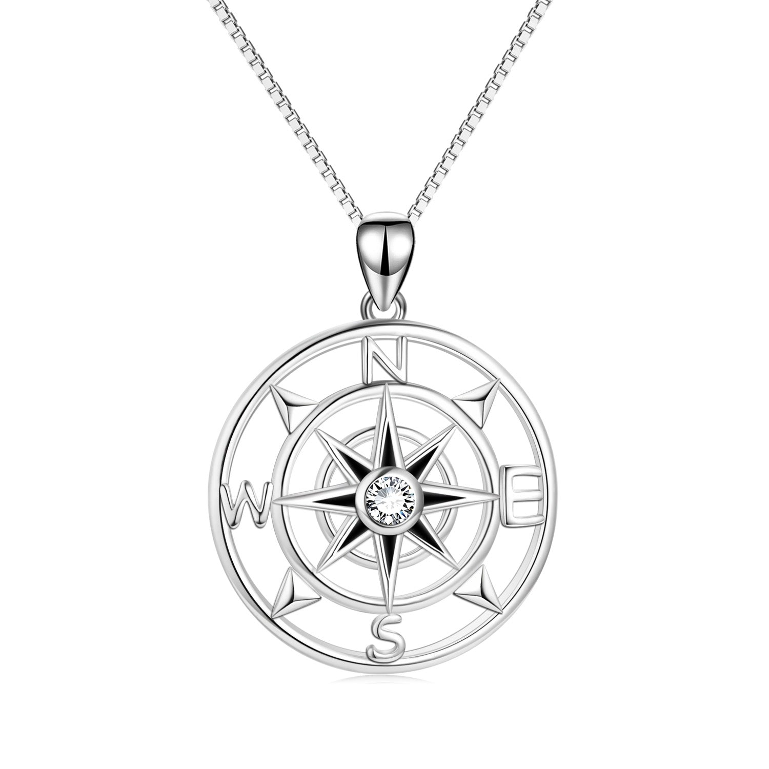 Hollow Compass  Necklace Direction Traveler Cool Girl Jewelry Distant Necklace