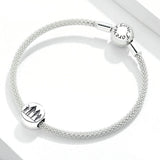 925 Sterling Silver Simple Family Charm for DIY Bracelet Fashion Wedding Jewelry For Gift