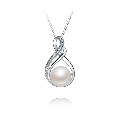 S925 Sterling Silver Fashion Wild Pearl Pendant Necklace Female Jewelry Cross-Border Exclusive