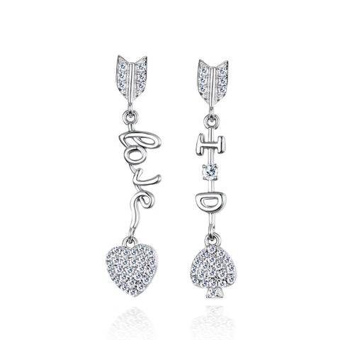 S925 Sterling Silver LOVE Alphabet Drop Earrings Wholesale