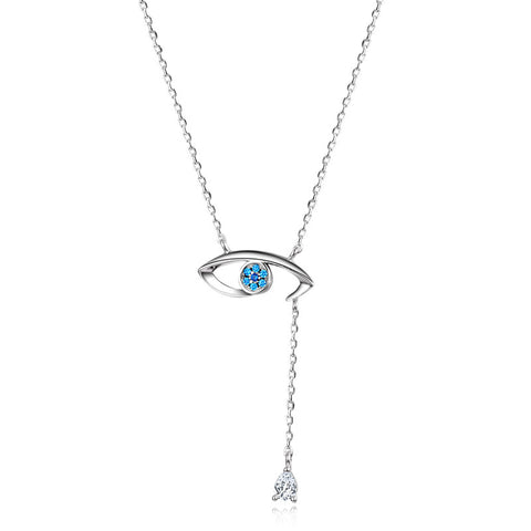 S925 Sterling Silver Evil Eye Necklace Wholesale Pendant Necklace
