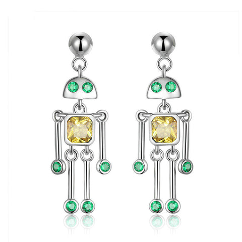 Little Robot Drop Earrings