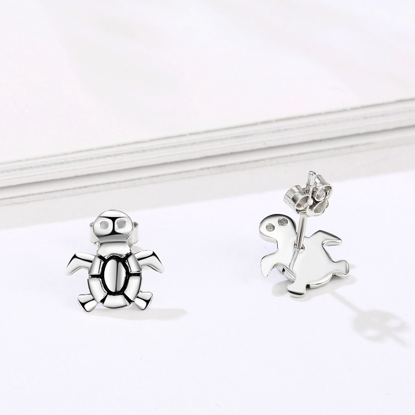 2019 Beautiful Designed Turtle Shape Earrings Silver Sterling Animal Earrings
