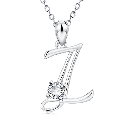 Manufacturer Chain Necklace big zirconia letter alphabet pendants Necklace