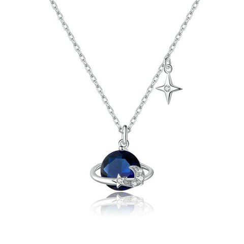 Blue Planet Pendant Necklace