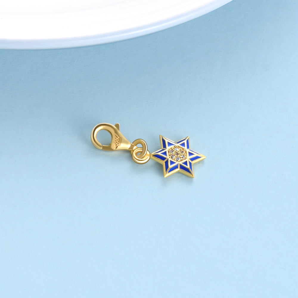 S925 Sterling Silver Diamond Star Accessories Creative Small Jewelry Charms