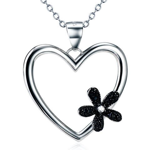 Heart & Flower Necklace Wholesale Valentine's Day Jewelry